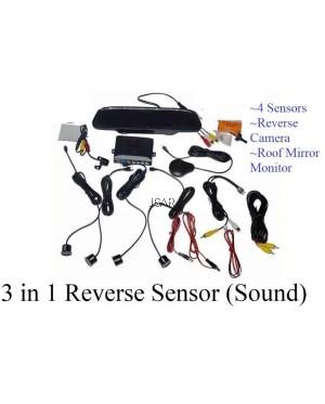 3 In 1 REVERSE SENSOR / CAMERA / MONITOR